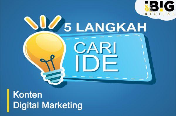 5 Langkah Mencari Ide Konten Marketing yang Bagus